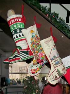 Christmas stockings (L-R: 1981, 1979, 1987)